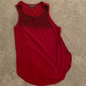 astr the label red sleeveless tank top